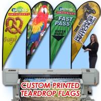 11ft Custom Teardrop Feather Flag