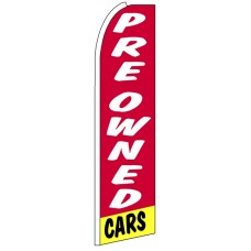 Pre Owned Cars - Red Feather Flag Banner