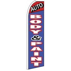 Auto Body & Paint - Feather Flag Banner