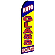 Auto Glass - Advertising Feather Flag Banner
